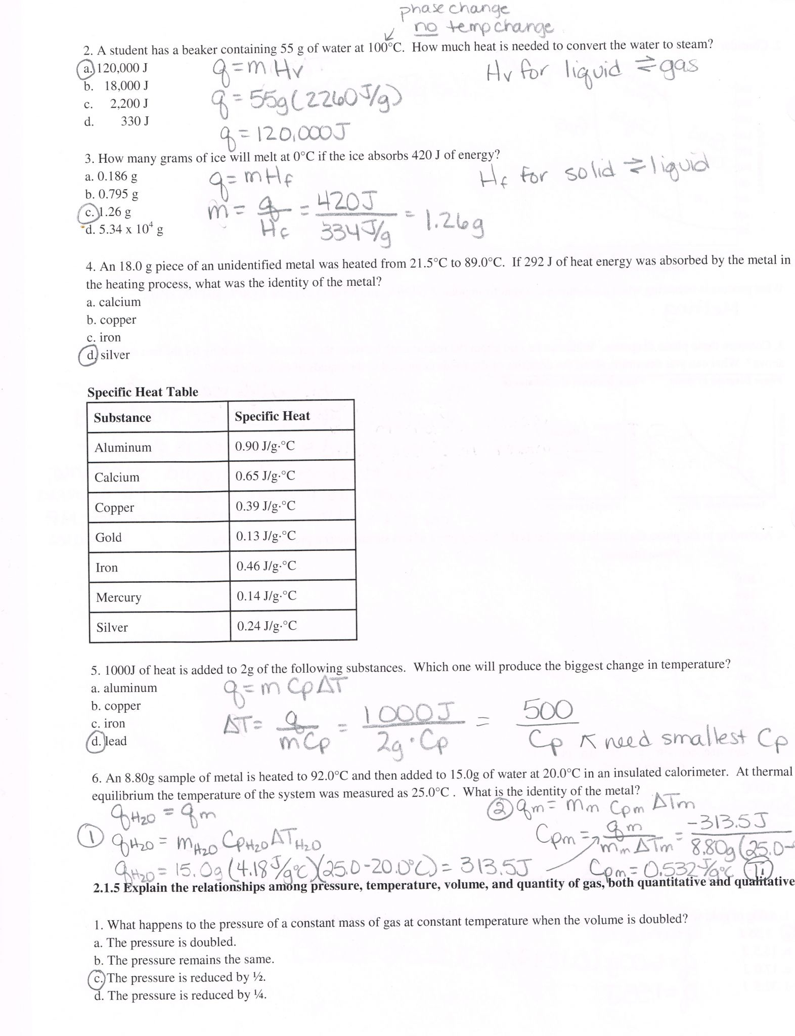 Pressure Conversions Chem Worksheet 13 1