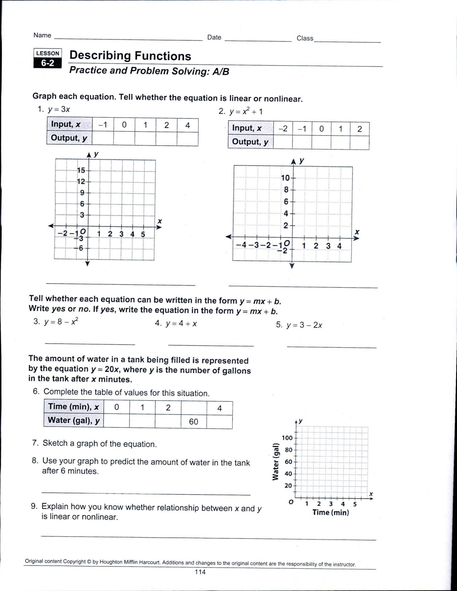 Proportional Reasoning Worksheet