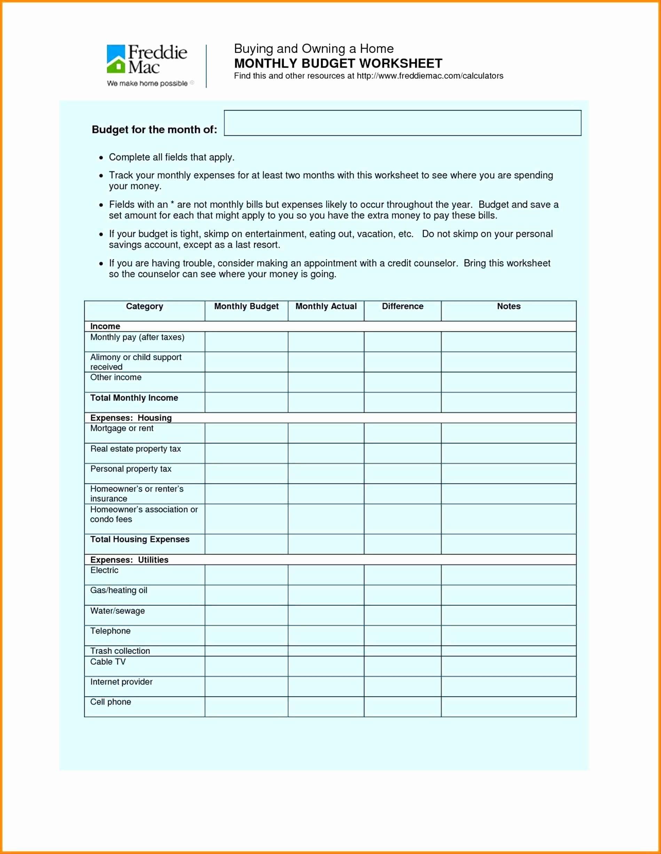 Public Housing Rent Calculation Worksheet