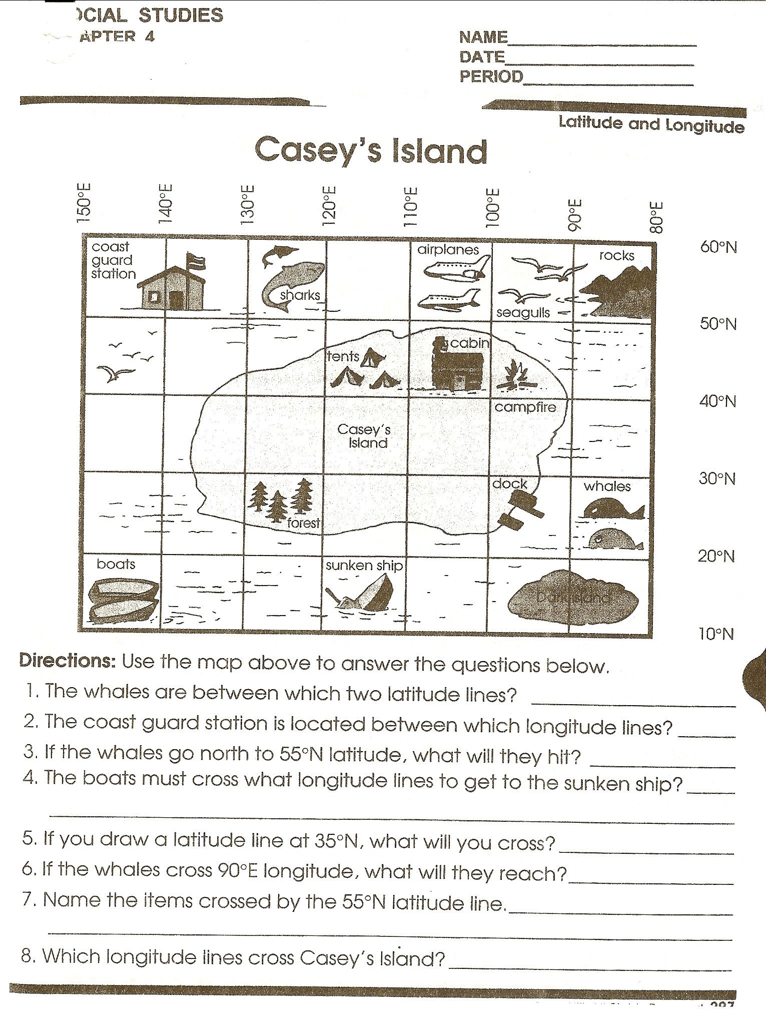 Reading A Weather Map Worksheet