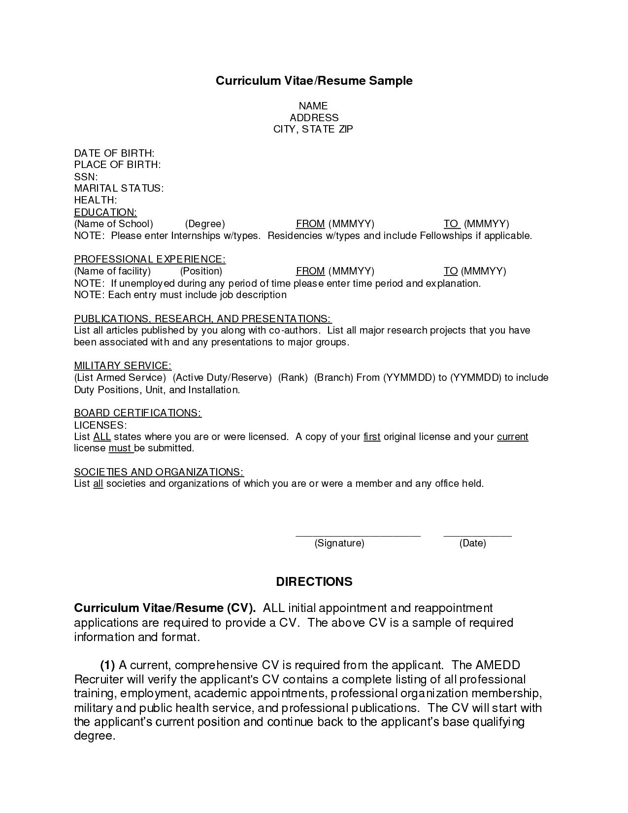 Resume Worksheet For Middle School Students