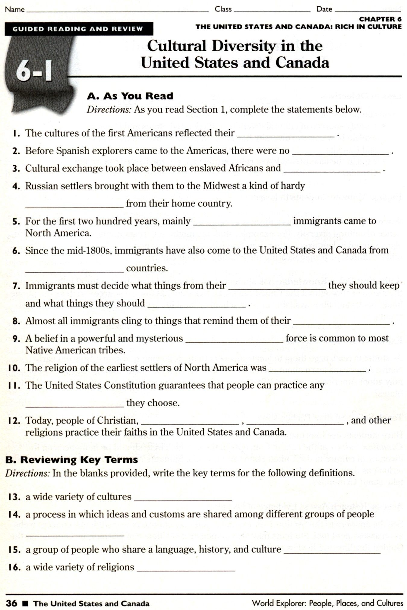 3rd Social Stu S Worksheet
