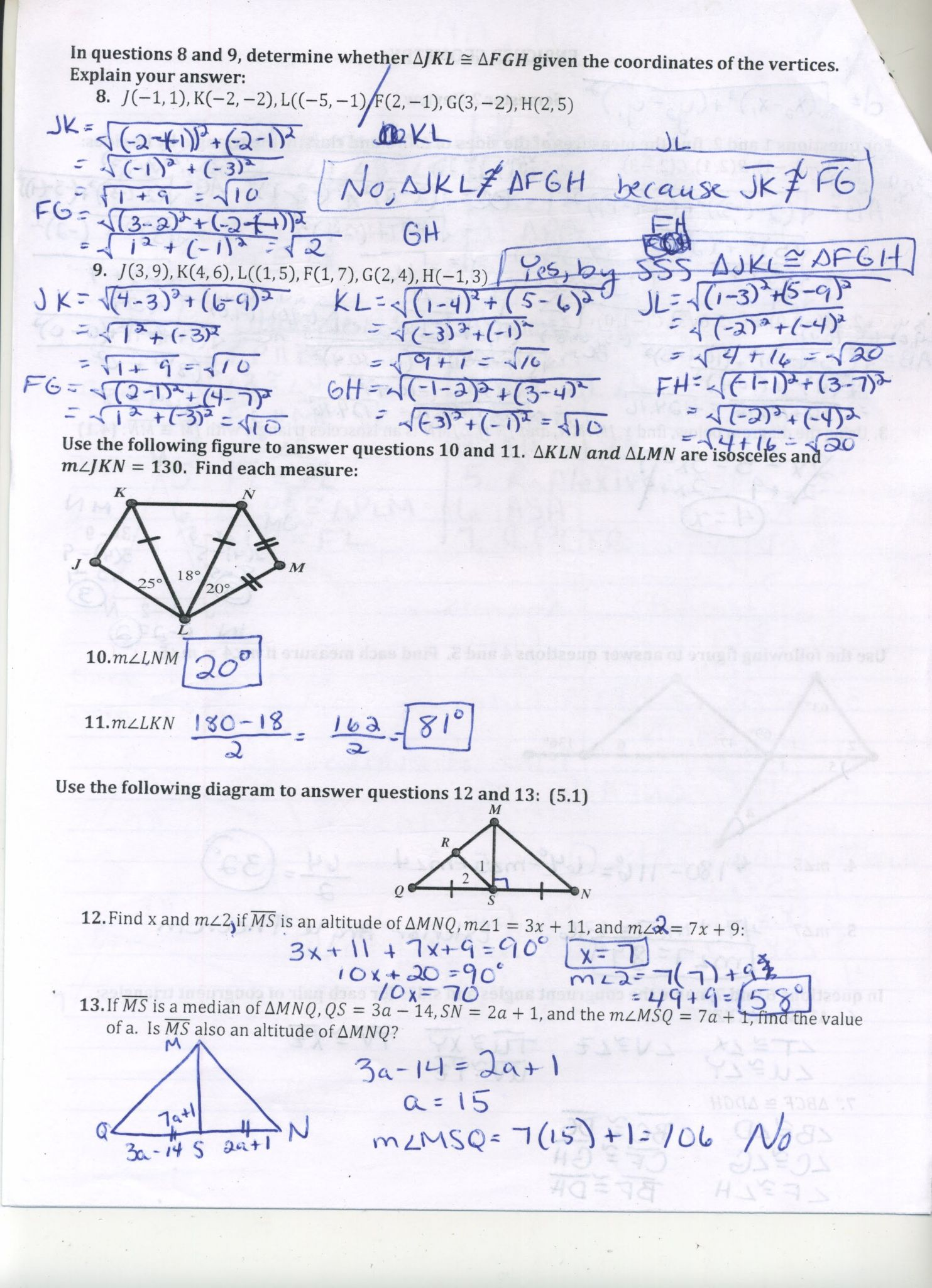 Simplifying Radicals Geometry Worksheet