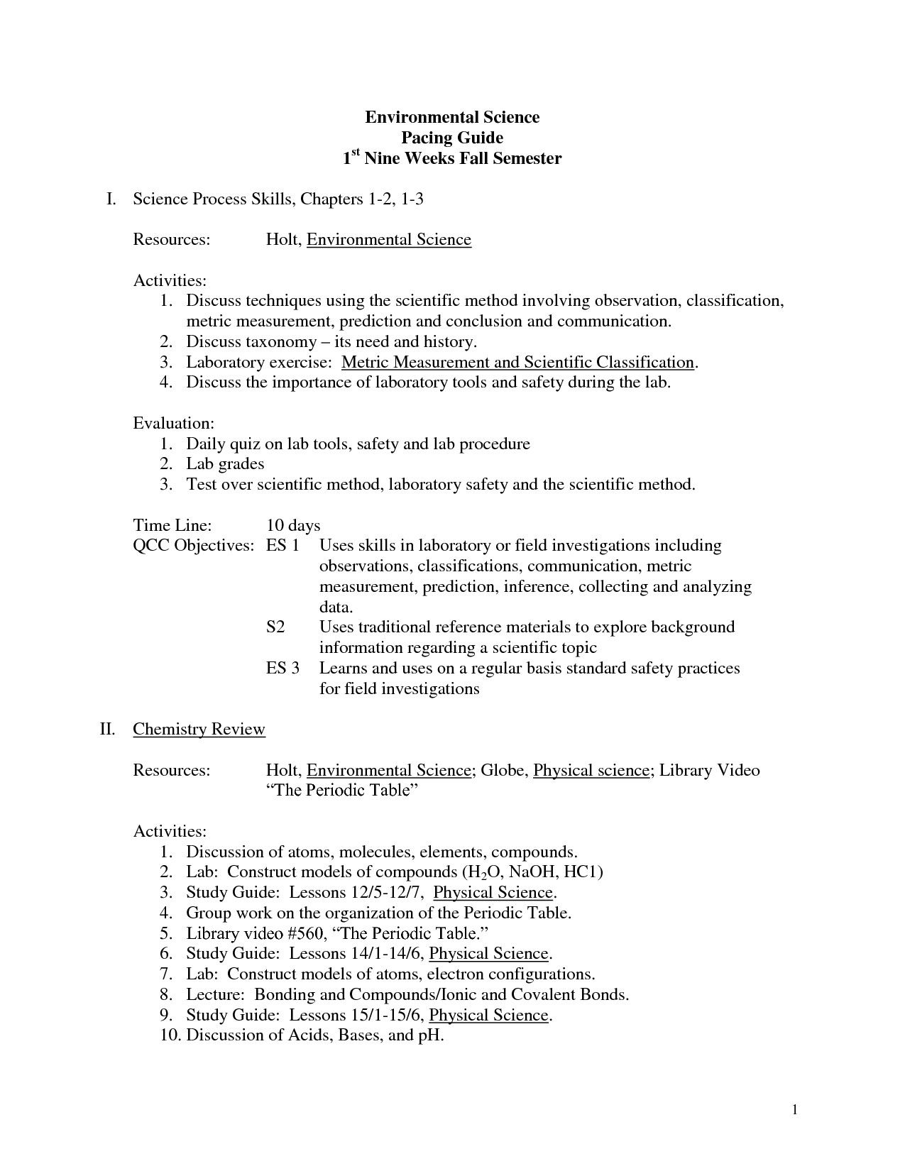 Skills Worksheet Concept Review Environmental Science