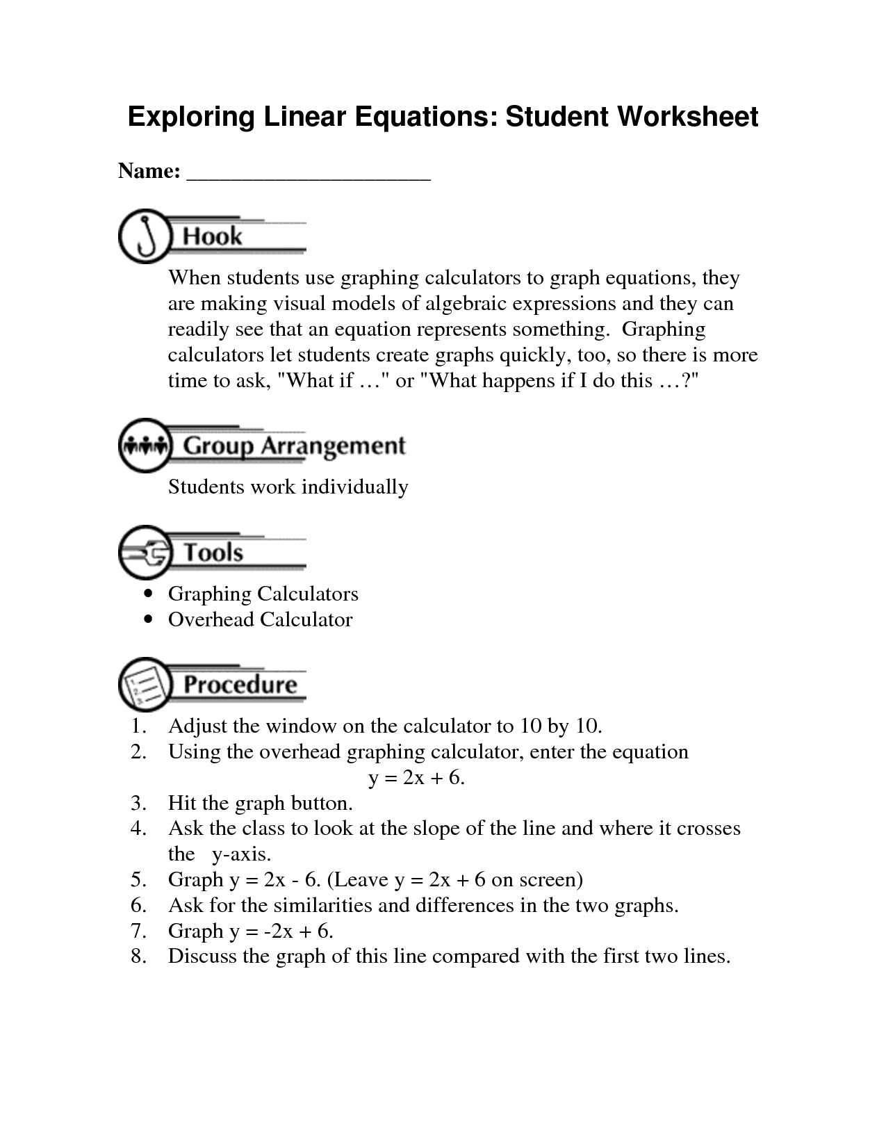 Solving Linear Systems By Graphing Worksheet