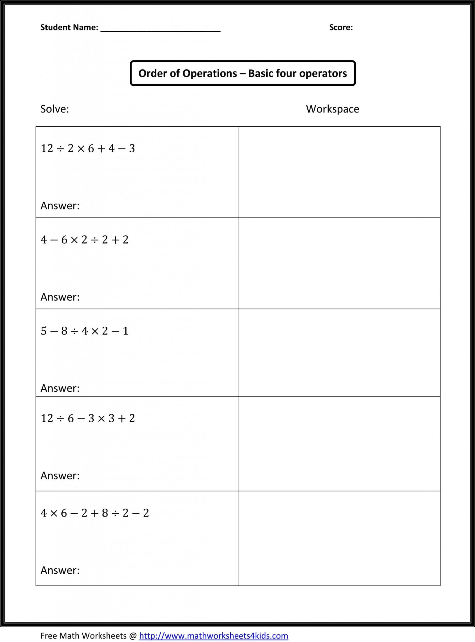 Solving Systems Of Equations By Substitution Worksheet