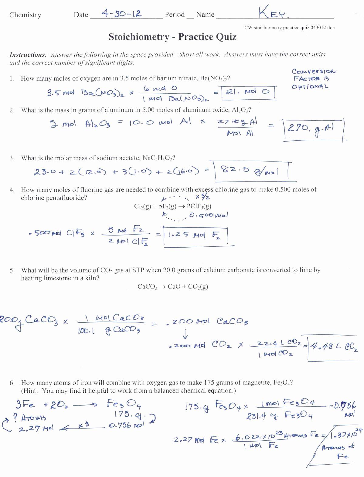 Specific Heat Calculations Worksheet