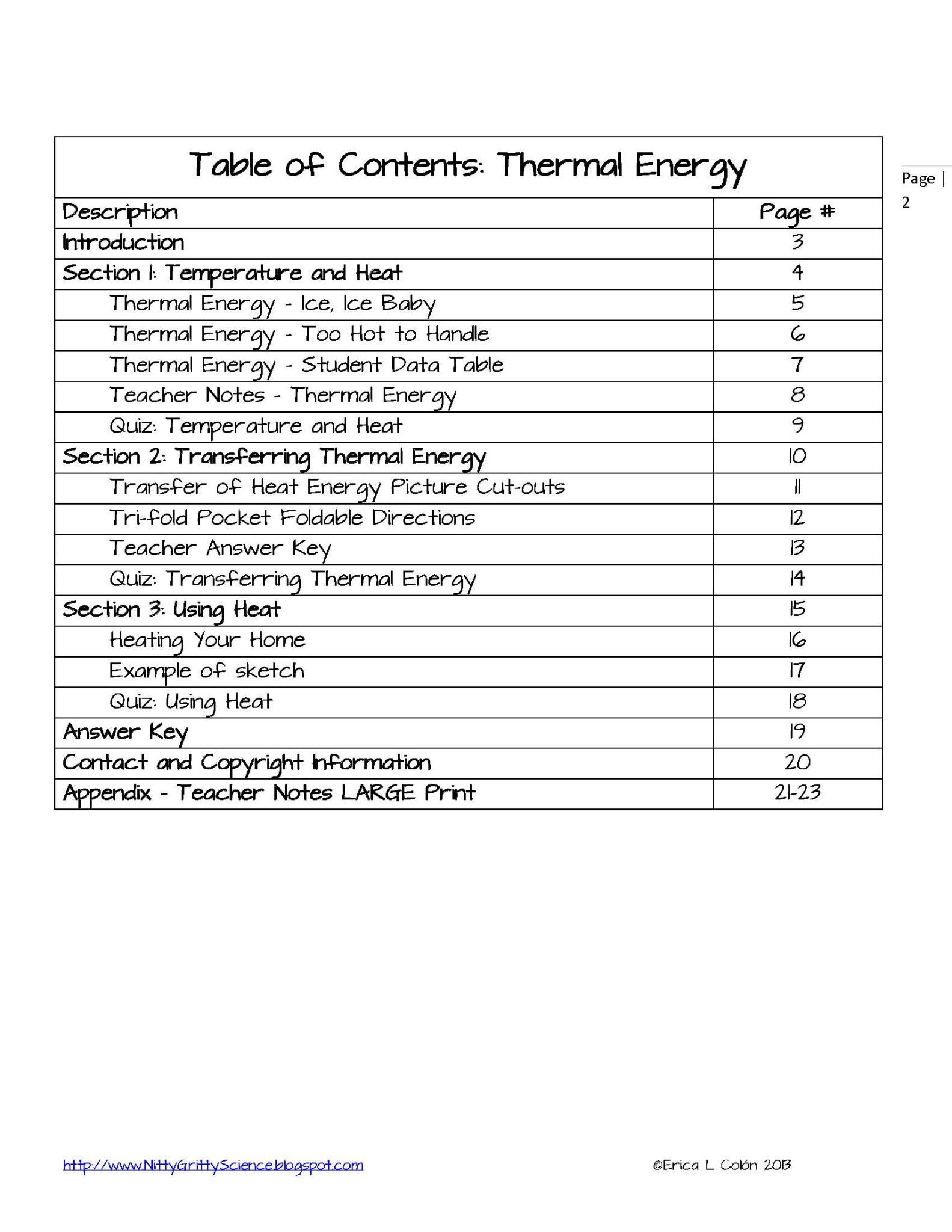 Energy Flow Worksheet Answers