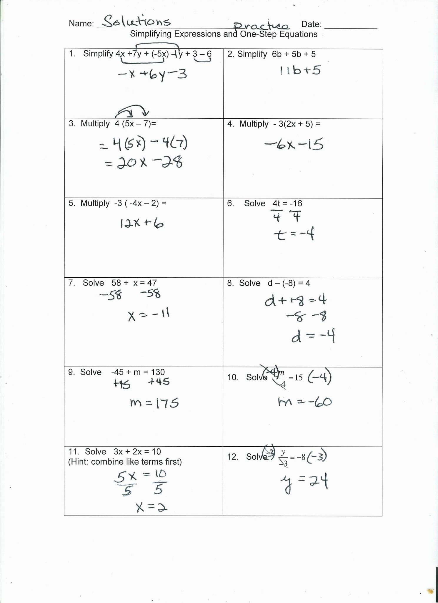 Systems Of Equations Word Problems Worksheet Answers