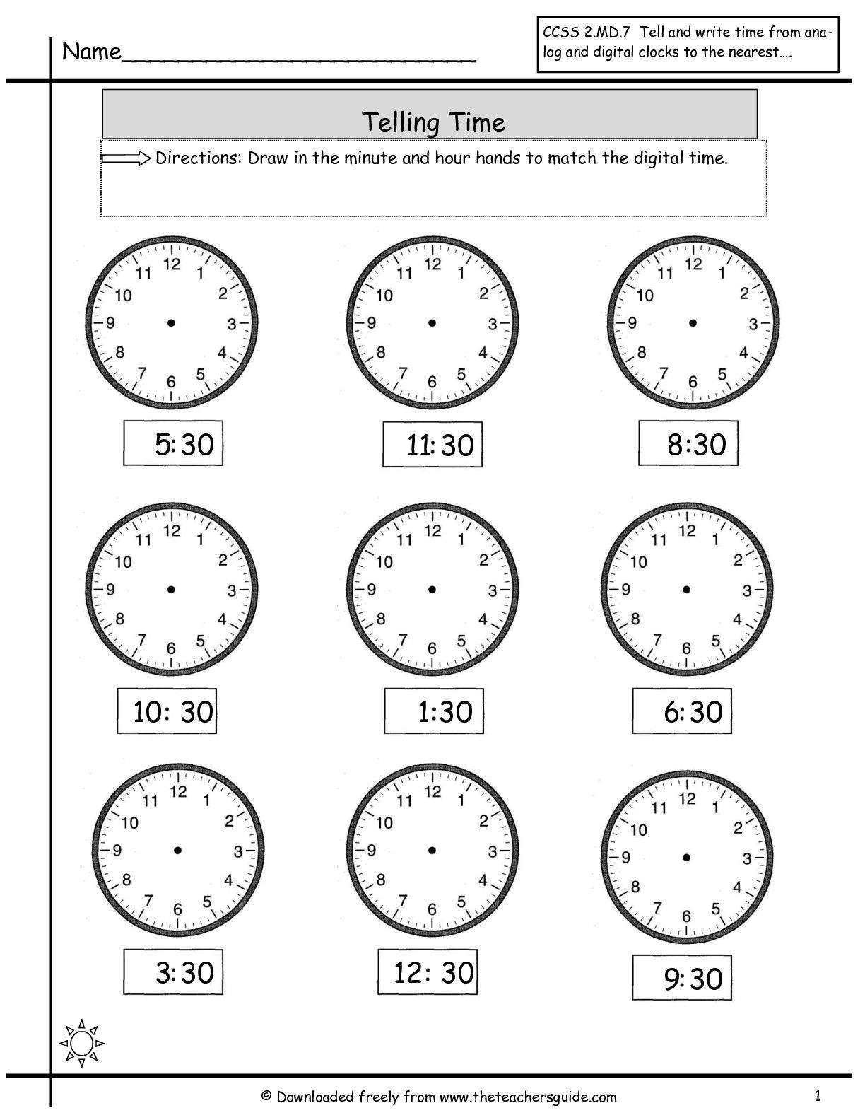 Telling Time In Spanish Worksheets