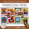 Math Coloring Sheets for Thanksgiving Math Coloring Sheets for Thanksgiving