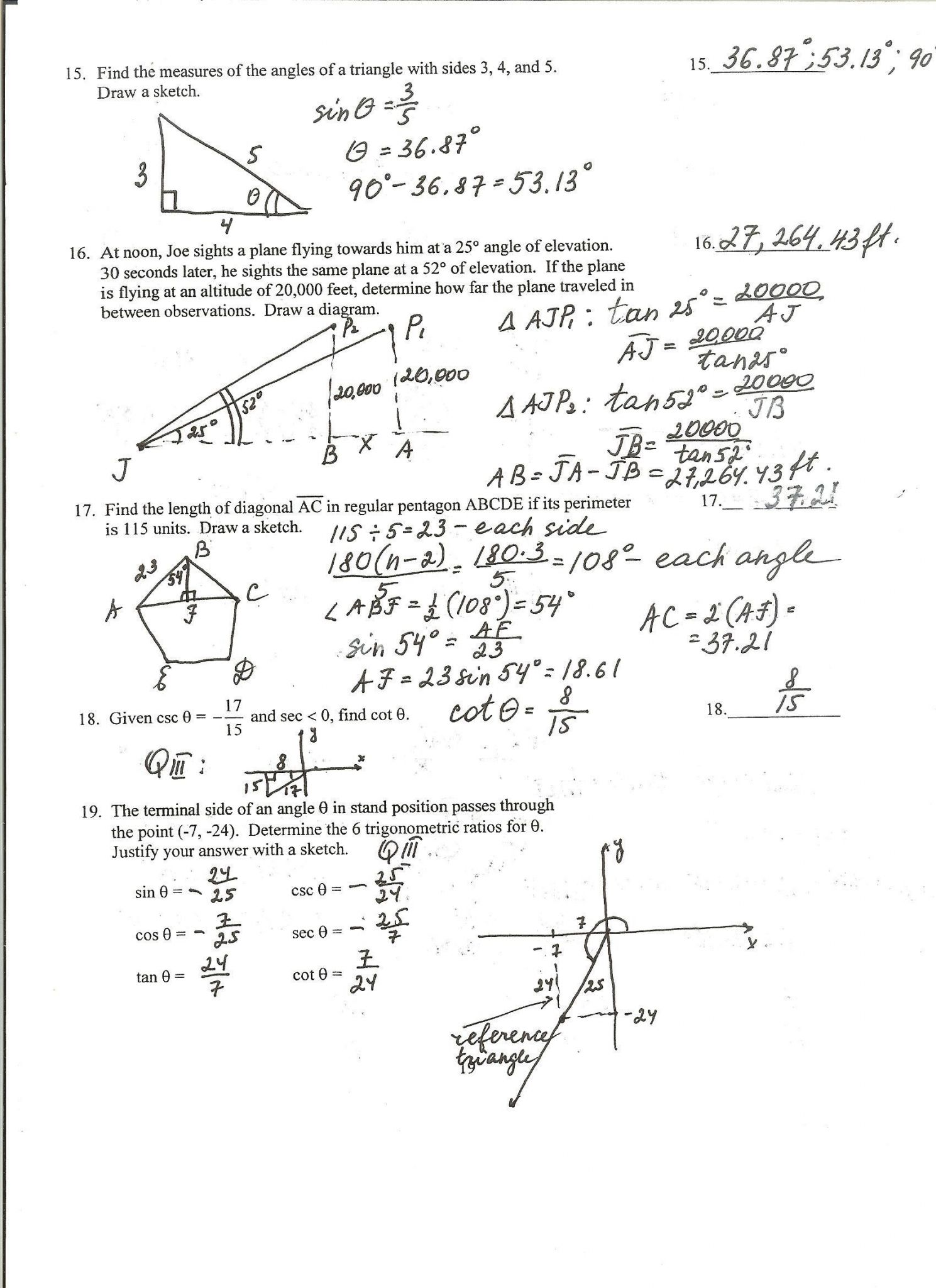 Verifying Trigonometric Identities Worksheet