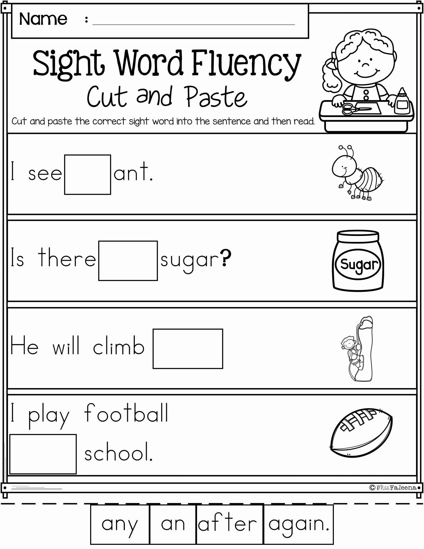 Word Family Worksheets Kindergarten