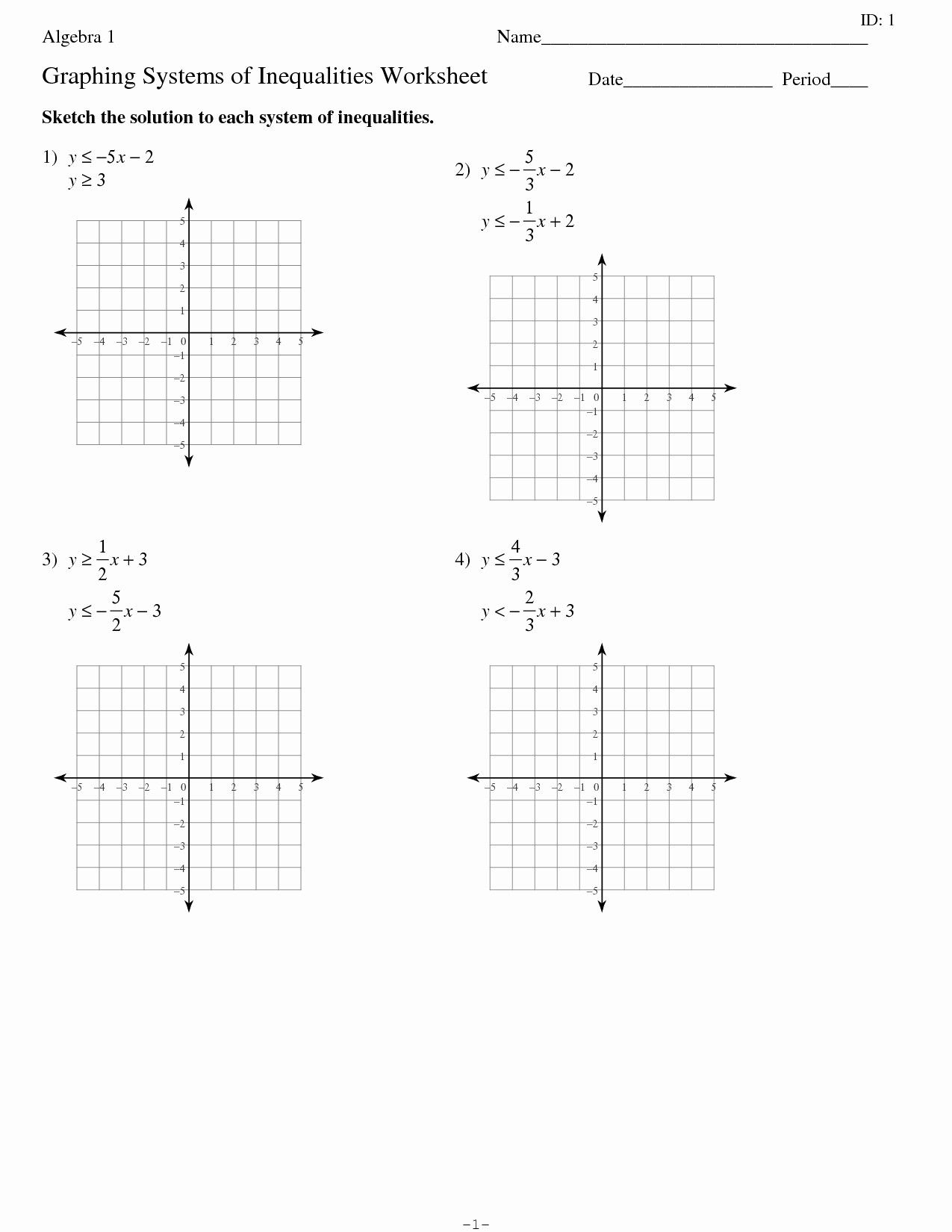 Worksheet 3 Systems Of Equations Substitution And