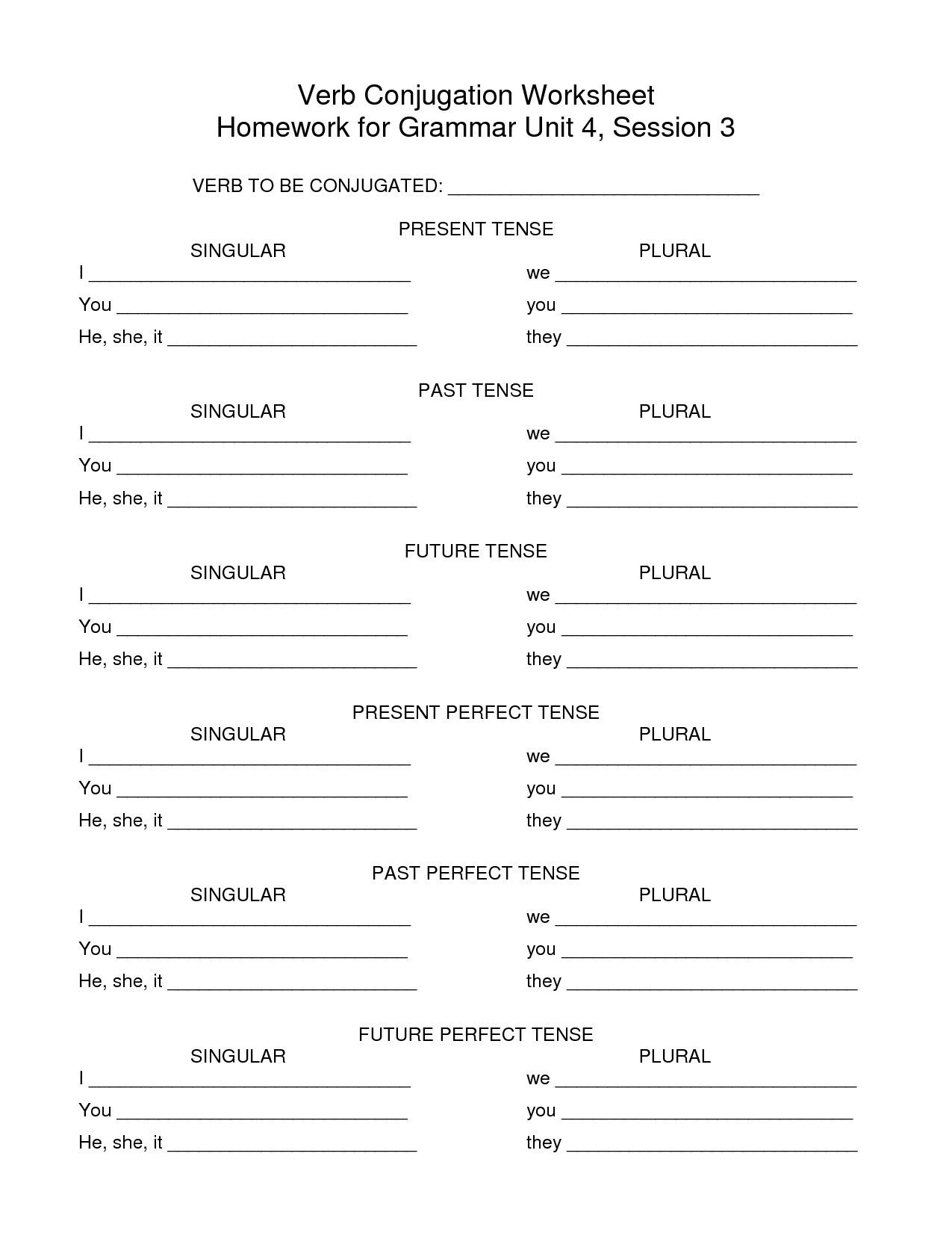 Preterite Tense Review Worksheet
