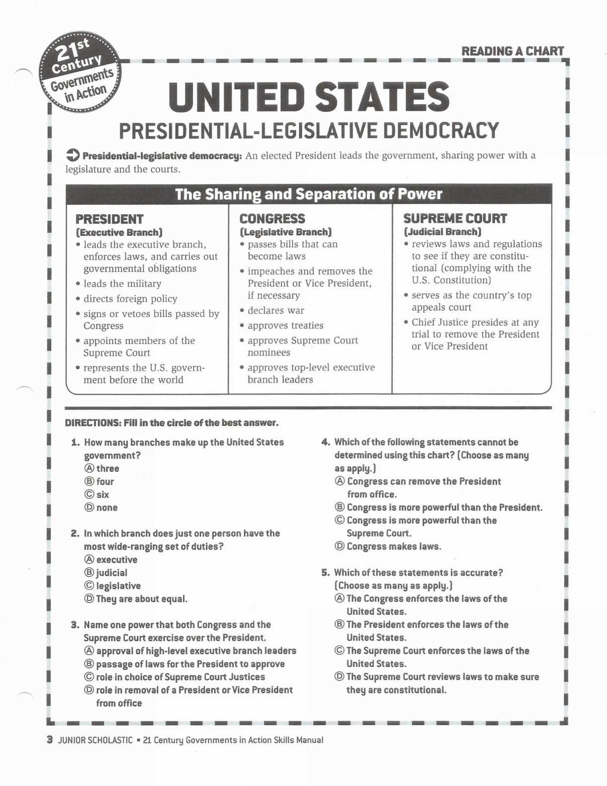 Worksheet The Legislative Branch Answer Key