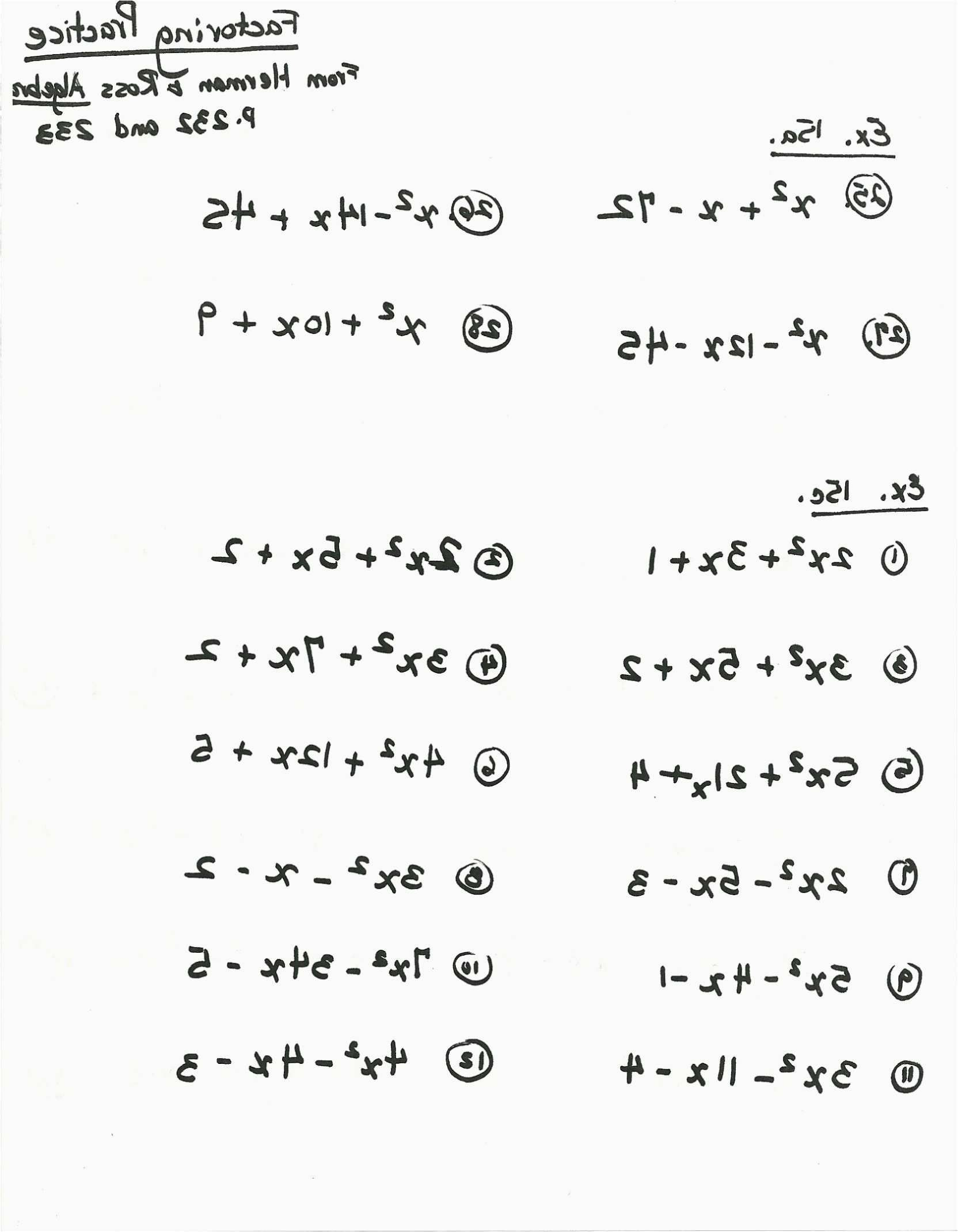Math Worksheet Year 8 Algebra