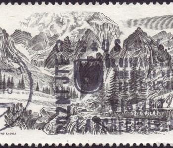 Scan: Briefmarke Tschechoslowakei - 1969 - 20 Jahre Tatra-Nationalpark