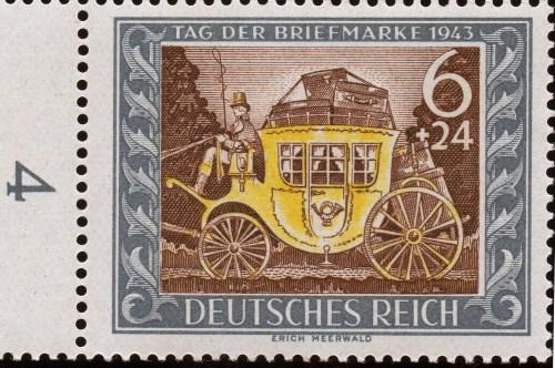 Scan: Deutsches Reich -1943 - 6+24 Pf. - Tag der Briefmarke 1943
