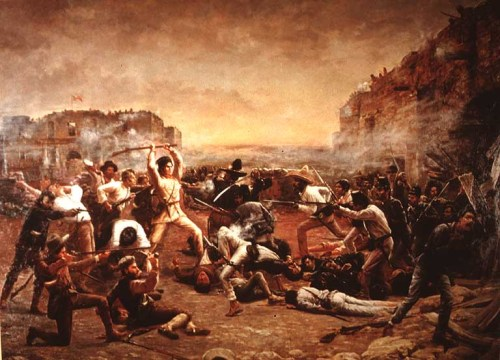 Fall of the Alamo - Gemälde von 1903 - Das Original befindet sich in den Texas State Archives