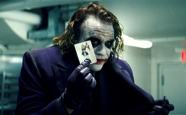 Heath Ledger as Joker in Dark Knight