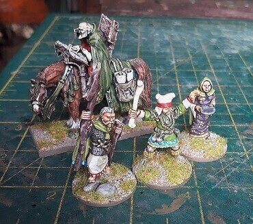 Picture of painted wizard miniatures