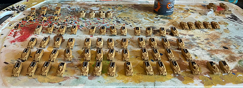 picture of miniature ww2 vehicles