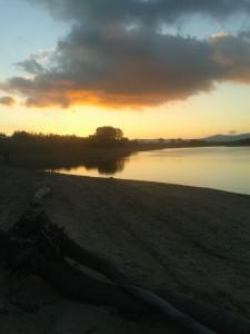 Tramonto sul Lago Cecita