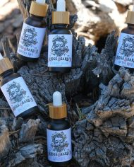 Beard Oil in a stump