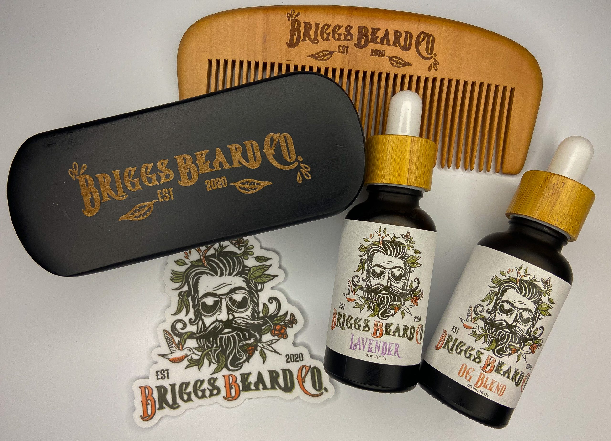 Briggs Beard Care bundle on a white background
