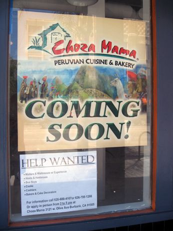 The sign is up and the space is actively being built out for Choza Mama in the former Hooters space