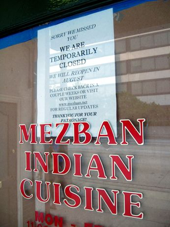 Mezban Indian Cuisine is expanding by annexing part of the former La Maschera space next door