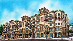 A rendering of The Renaissance designed by Suarez Architects