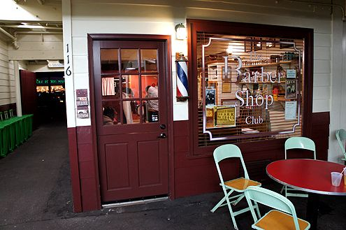 This cute barber shop adds a nice nostalgic touch