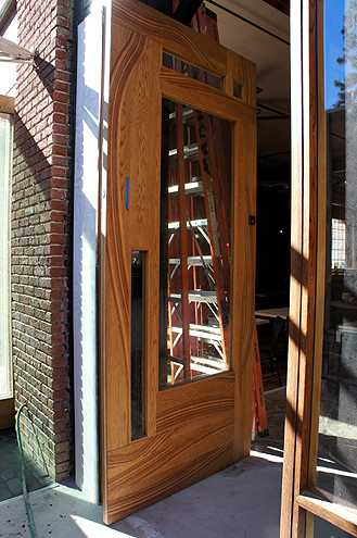 The very large and tall front door to Stocking Frame