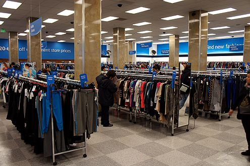 A view of the first level of the store