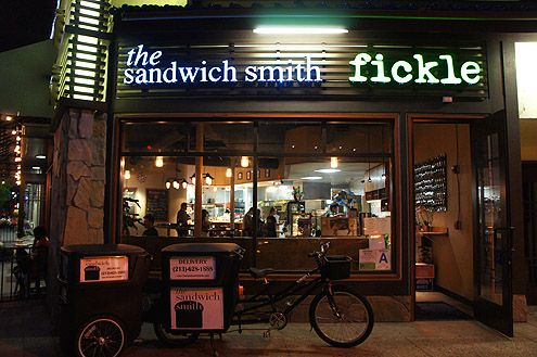 Fickle in Little Tokyo is Chef Ta's concept for dinner while The Sandwich Smith is the lunch concept