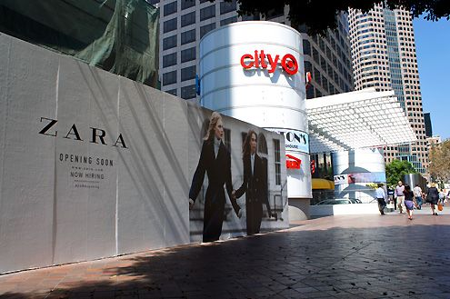 Zara's new 27,000 SF store faces Figueroa as part of the newly remodeled FIGat7th shopping center
