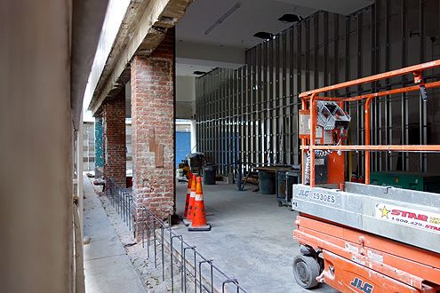 The permanent Aesop store is currently under construction at 9th/Broadway opening early Jan 2014