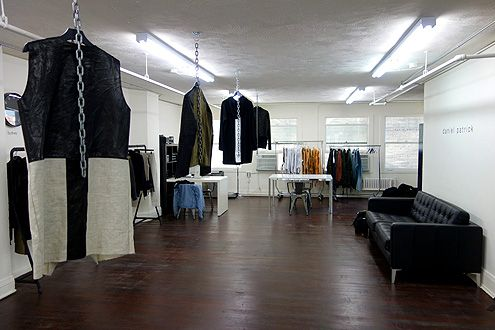 Daniel Patrick's office studio and showroom located on the second floor loft