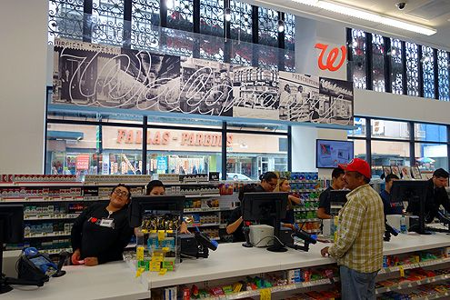 The new Walgreens is a vast improvement over Rite Aid across the street with a well-designed store that's bright, clean, and organized