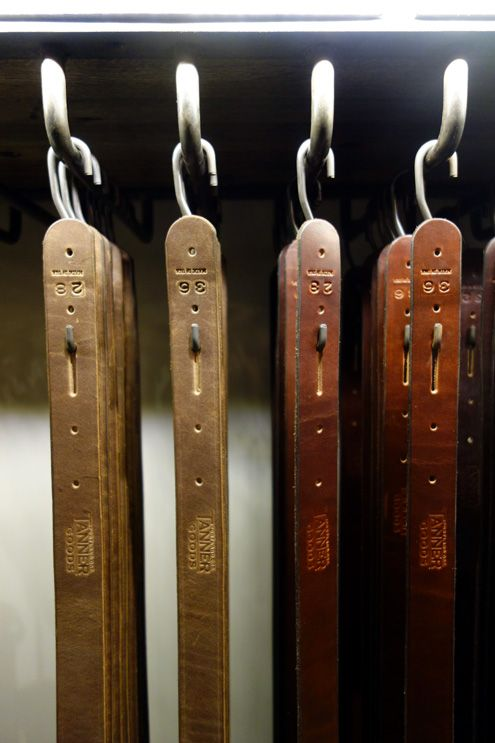 Tanner Goods leather belts