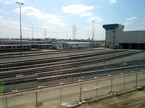 Train geeks like me will love the eastern view of the Metro train yard