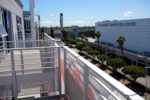 Views of the LA Convention Center from the balconies facing southwest
