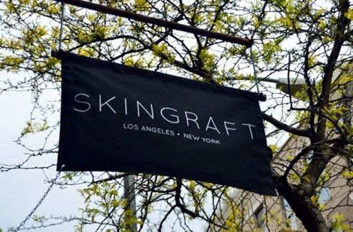 Skingraft flag outside NYC store (Photo: Twelvmag.com)