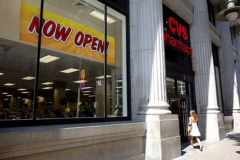 A new 13,800 square foot CVS has opened at the corner of 7th and Spring in the Historic Core of Downtown LA