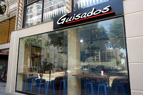 Guisados' third location in Los Angeles is now open located at the Broadway Spring Arcade at 541 S Spring St
