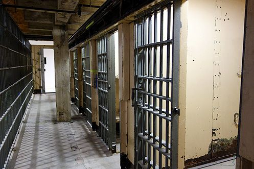 Hardened criminals were once held in these jail cells