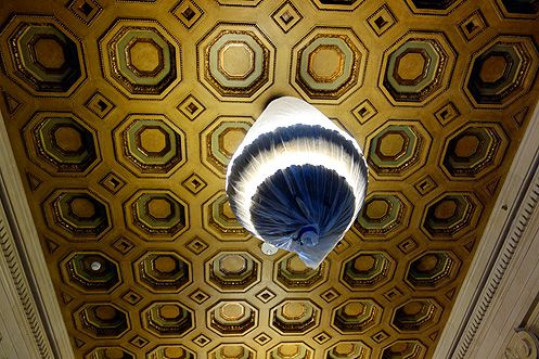 A closer look at that gorgeous ceiling