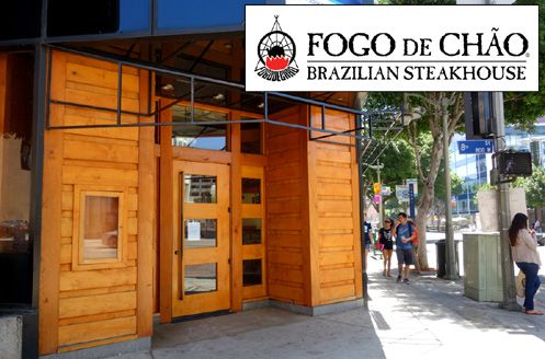 The delectable high-end Brazilian steakhouse, Fogo de Chão from Sao Paulo, is opening in what used to be the Roy's Hawaiian Fusion space at 8th/Figueroa